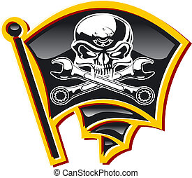 motor Jolly Roger badge Available EPS-8 vector format...