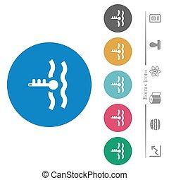 motor, lägenhet, kylmedel, runda, ikonen, kritisk, ...