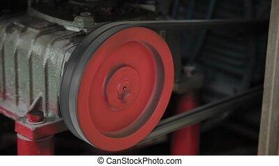 motor, machine., elektrisch, werkende , fabriek