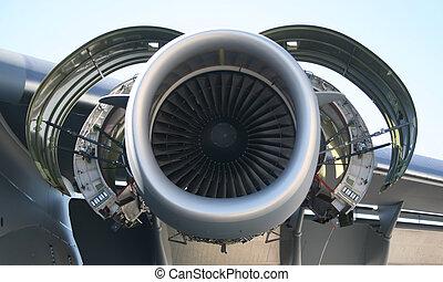 motor, militärisches flugzeug, c-17
