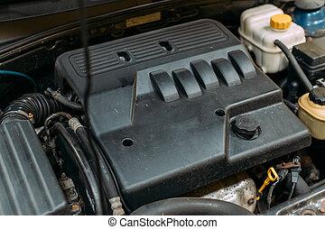 motor, modernos, carro.