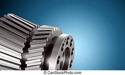 motor, o, mecánico, partes, plano de fondo