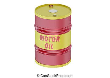 Motor oil barrel