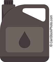 Motor oil canister icon flat isolated vector