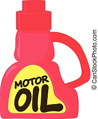 Motor oil icon, cartoon style