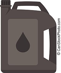 Motor oil icon flat isolated vector
