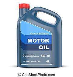 Motor oil plastic canister