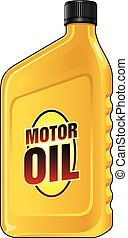 Motor Oil Quart is an illustration of a yellow quart size...