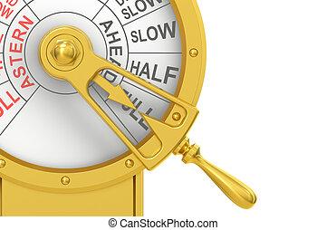 motor, orden, telégrafo, primer plano, lleno, adelante,...