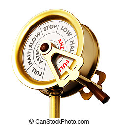 motor, orden, telegraph., 3d, ilustración