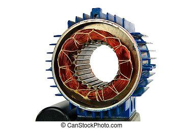 motor, osamocený, dále, jeden, běloba grafické pozadí