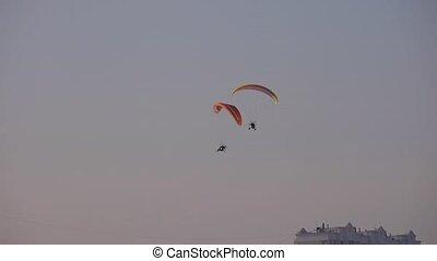 Motor Paraglider in Winter