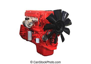 motor, poderoso, diesel