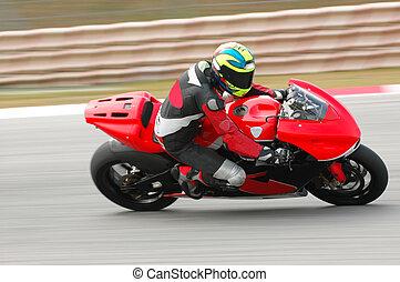 motor racer in action