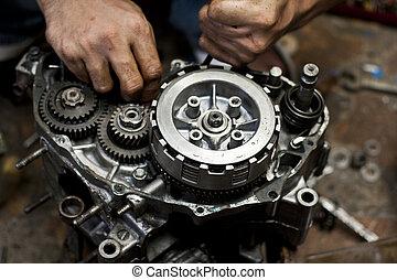 motor, reparera, motorcykel