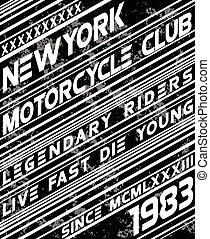 Motor sport slogan typography design