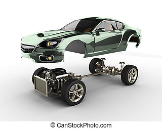 motor, sportcar, auto, chassis, luxe, brandless