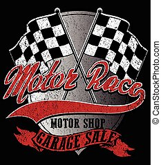 Motor sports logo graphic design