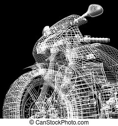 motor, straße, zyklus, kämpfer