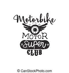 Motor Super Club Vintage Emblem
