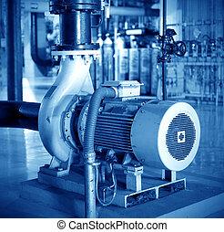 Motor - Thermal power plant workshop inside the motor