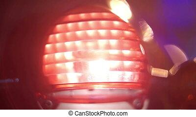 Motor transport bike - Motorcycle headlight when the start...