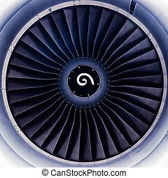 motor, turbine, düse, klingen