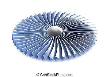 motor, turbine, deel, gas, straalvliegtuig