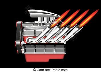 motor, vetorial