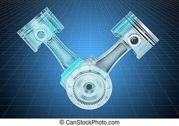 motor, visualización, pistones, interpretación, v2, canalla,...