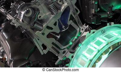 motor, werken, hybride, futuristisch