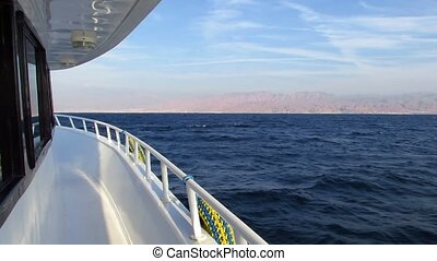 Motor yacht - The view from the deck motor yacht on Red Sea...