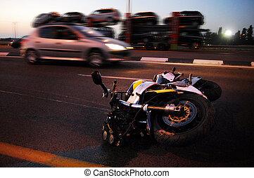 Motorbike Accident - ASHKELON, ISR - MAY 21: Motorbike...