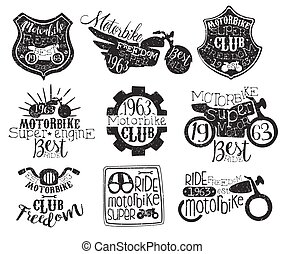 Motorbike Club Vintage Stamp Collection