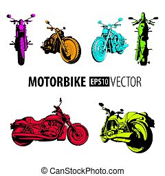 Motorbike Colorful Set Collection