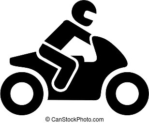 Motorbike driver icon