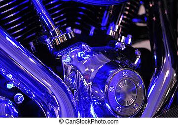 Motorbike engine blues - Harley Davidson twin cam motorbike ...