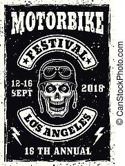Motorbike festival vintage invitation poster