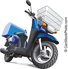 motorbike for delivery goods - Detailed vector image scooter...