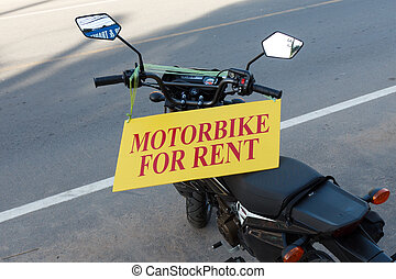 Motorbike for rent in Thailand