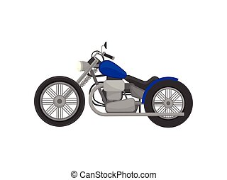 Motorbike harley davidson. Vector illustration on white...