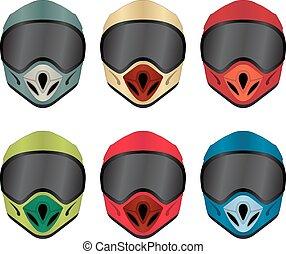 Motorbike helmet