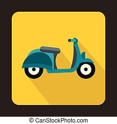 Motorbike icon in flat style