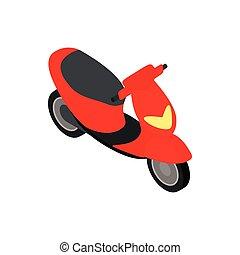 Motorbike icon, isometric 3d style