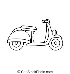 Motorbike icon, outline style