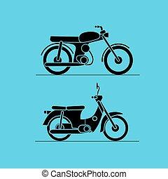 motorbike icons set