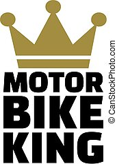 Motorbike king with crown