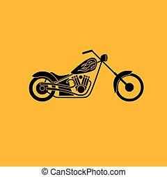 low rider icon - motorbike low rider icon, vector ...