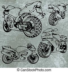 motorbike made in vector