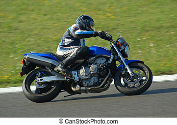 Motorbike - Man on bike